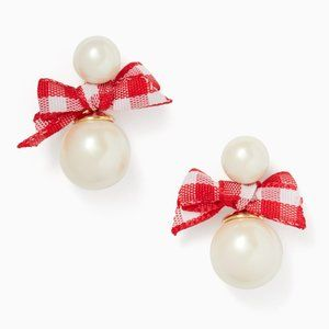 NEW Kate Spade Pretty Pearly Bow Stud Earrings